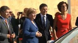 Angela Merkel all'Expo con Matteo Renzi