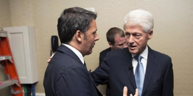 Matteo Renzi a New York incontrerà Bill Clinton. Il premier