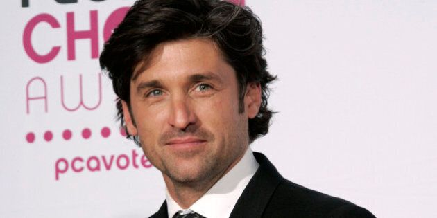 Patrick Dempsey holds the favorite male television star award at the 33rd Annual People's Choice Awards...
