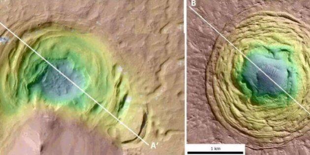 Marte, una depressione sulla superficie avvistata dagli scienziati potrebbe ospitare la