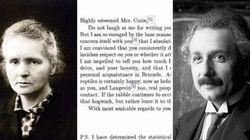 La storia della lettera di Albert Einstein a Marie