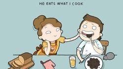 Queste illustrazioni adorabili sull'amore di tutti i giorni colgono nel
