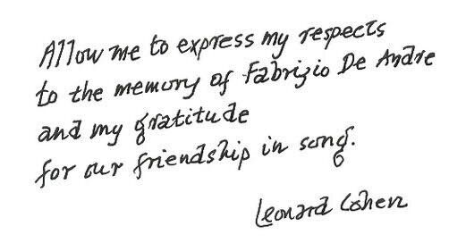 Leonard e Fabrizio, quelle linee parallele percorse dai grandi poeti a volte si