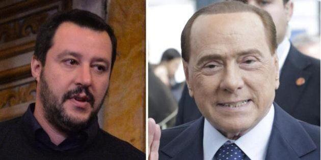Lega, Silvio Berlusconi e Matteo Salvini in una Bologna blindata. E alla vigilia per i due partita del...
