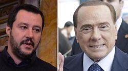 Salvini e Berlusconi in una Bologna
