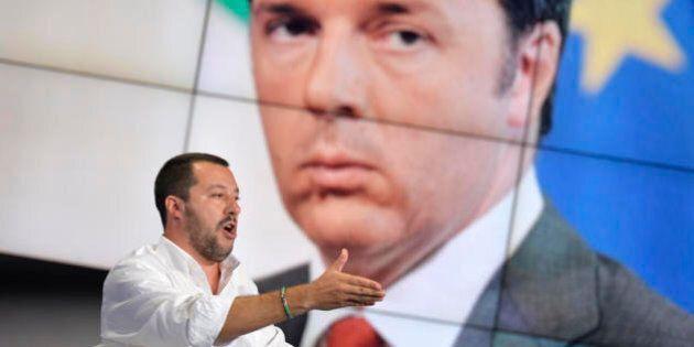 Renzi, Salvini e la piccola storia in nero di