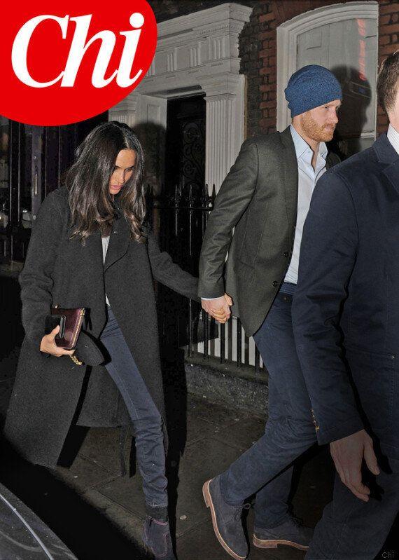 Il Principe Harry e la fidanzata Meghan Markle fotografati nella prima uscita pubblica