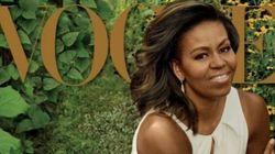 Terza copertina per Michelle, in posa da diva su Vogue. Barack: