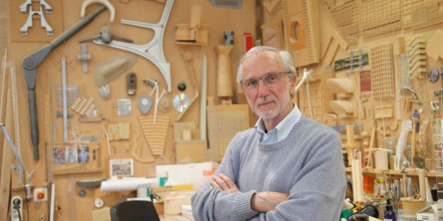 Italian architect Renzo Piano poses at his workshop in Paris, France, Thursday, May 7, 2015. The Paris...