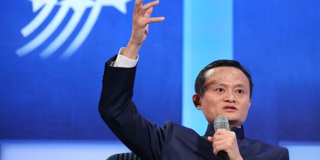 NEW YORK, NY - SEPTEMBER 23:  Executive Chairman of the Alibaba Group Jack Ma speaks during the 'Valuing What Matters' panal