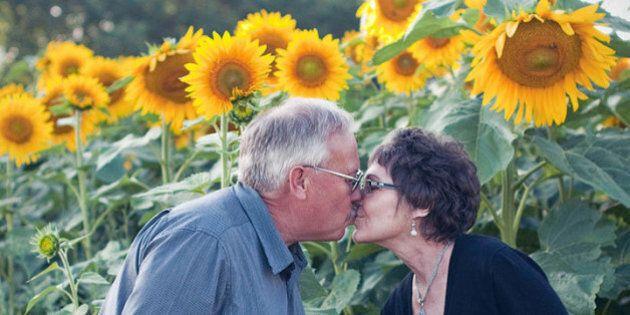 Pianta girasoli per 7 chilometri dopo la morte della moglie: