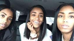 Quale è la madre? Il selfie della donna con le figlie gemelle diventa un