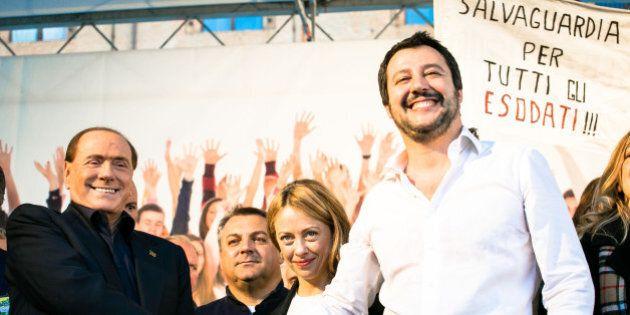 Matteo Salvini a Bologna lancia il TTR, la coalizione senza un programma della quale fa il leader al...