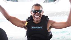 A chi non piacerebbe essere figo come Obama mentre fa kitesurf alle Isole
