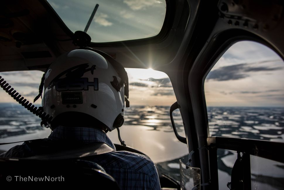 Out over the delta heading towards a whaling camp on the Yukon coast.