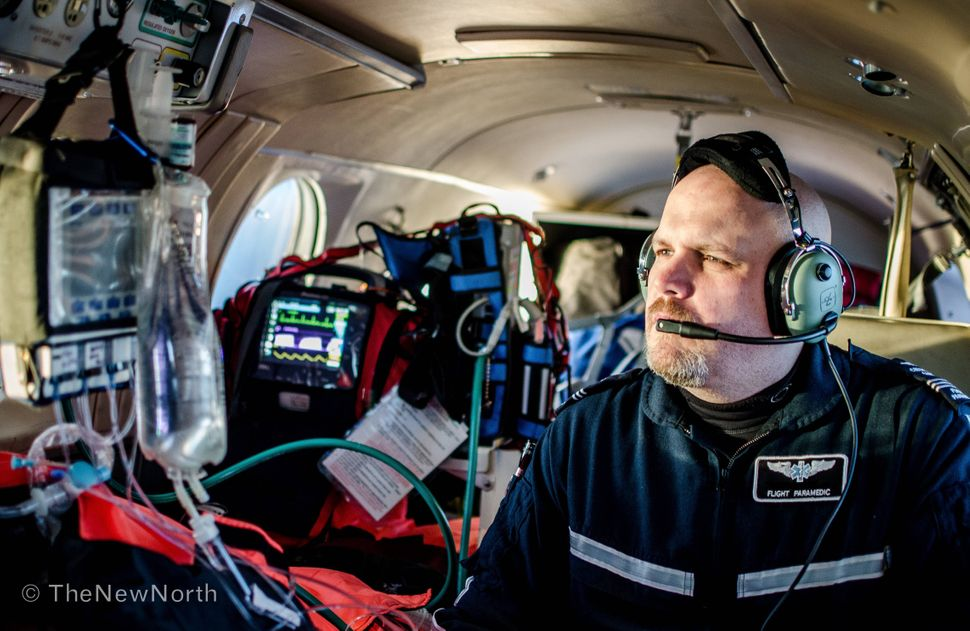 Critical care at 23,000 feet and 265 knots.