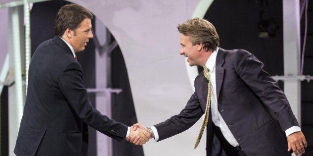 Matteo Renzi a Virus per l'ultima puntata del talk show di Nicola