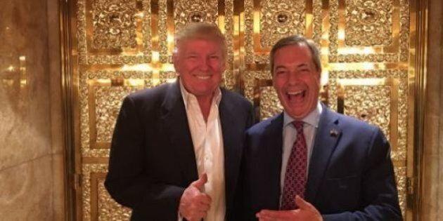 Donald Trump incontra Nigel Farage, che dice: