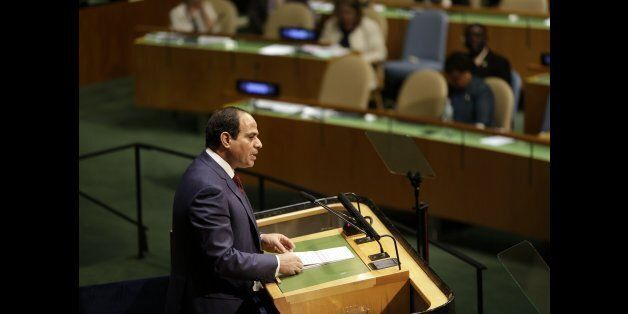Abdel Fattah Al Sisi, President of Egypt, speaks during the 69th session of the United Nations General Assembly at U.N. headq