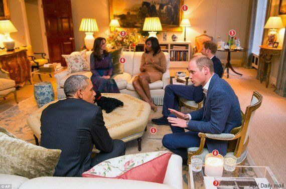 La foto di Obama dai Kate e William rivela i segreti di Kensington Palace (e di