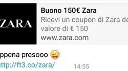 I buoni acquisto di Zara via WhatsApp sono una