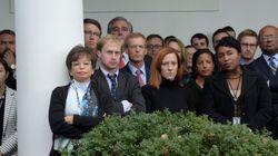 Le facce dello staff della Casa Bianca all'annuncio della vittoria di Trump dicono