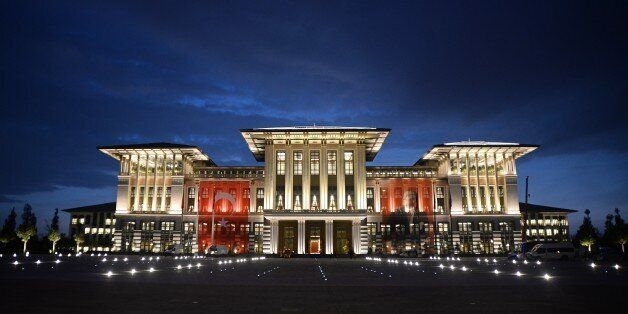 ANKARA, TURKEY - OCTOBER 28: A general view of Turkey's new Presidential Palace, built inside Ataturk Forest Farm and going t