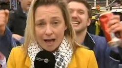 La giornalista molestata in diretta da