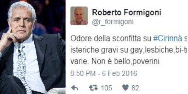 Roberto Formigoni insulta i gay: