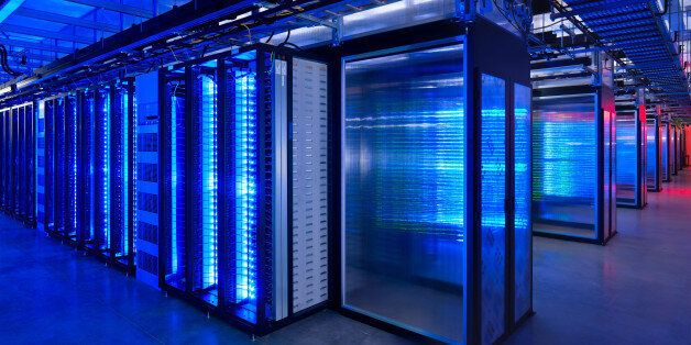 This undated photo provided by Facebook shows the server room at the company's data center in Prineville, Ore. The revelation
