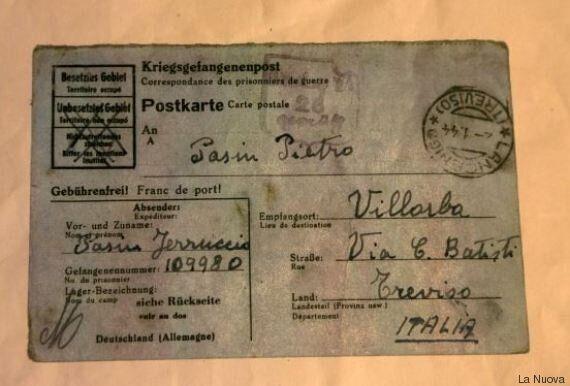 La lettera di Ferruccio, deportato in un campo tedesco nel 1945, arriva alla famiglia dopo 72