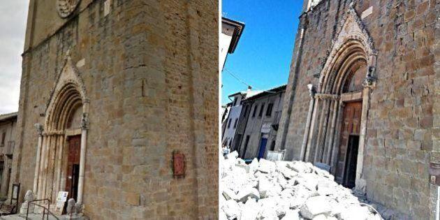 Il terremoto nel Centro Italia devasta anche l'arte: chiese e centri storici sfregiati ad Amatrice e