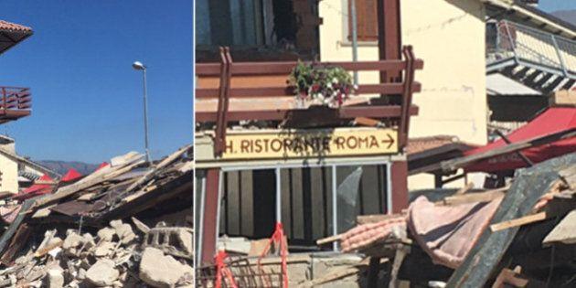 Il celebre Hotel Roma schiacciato su se stesso. Il sindaco di Amatrice: