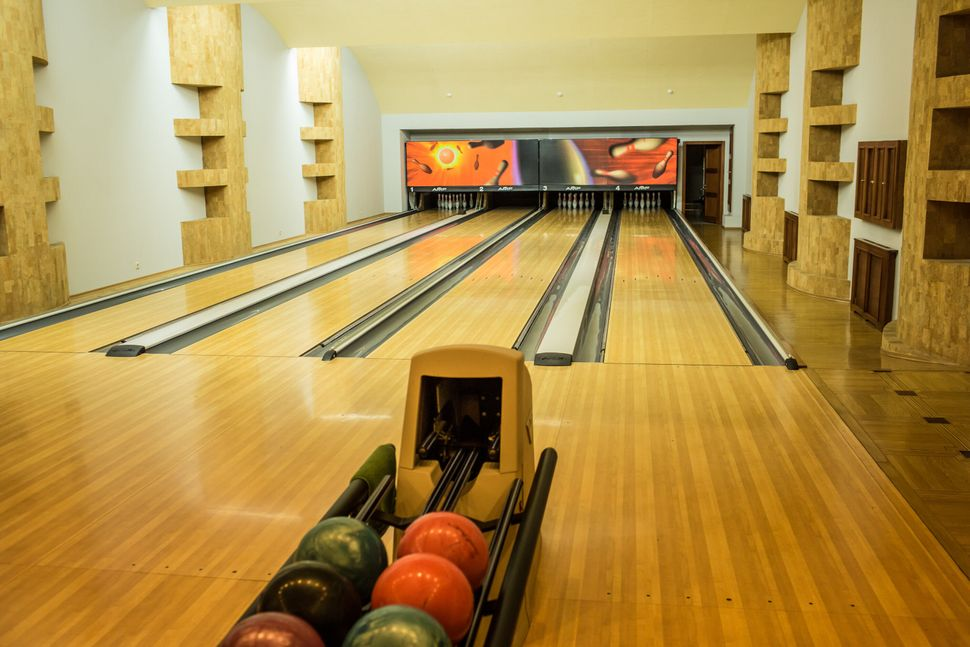 A bowling alley at Mezhyhirya, the former private estate of former president Viktor Yanukovych which is now a museum, on Nove