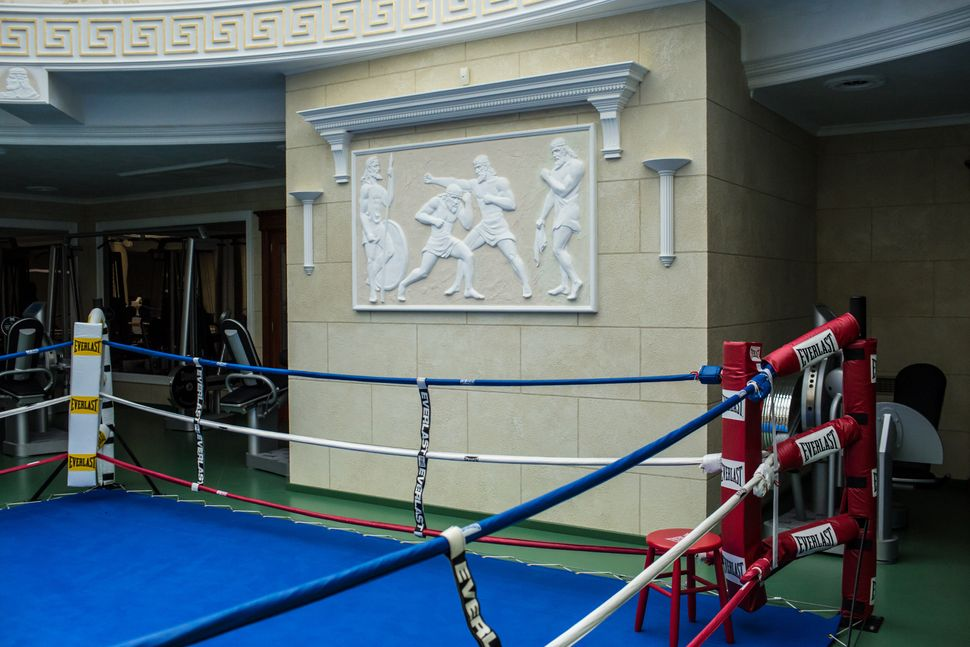 A boxing ring at Mezhyhirya, the former private estate of former president Viktor Yanukovych which is now a museum, on Novem