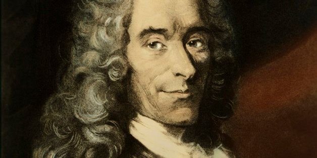 Voltaire (Francois-Marie Arouet) - portrait of French writer and author of Candide, Zadig, Micromegas, Philosphical Dictionar