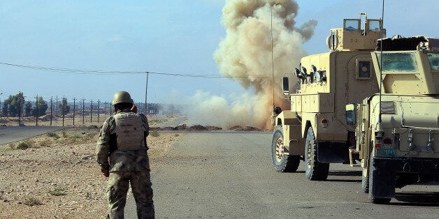 DIYALA, IRAQ - NOVEMBER 23: Iraq army forces and Peshmerga forces launch an US-led operation against Islamic State of Iraq an