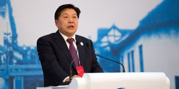 Lu Wei, China's Minister of Cyberspace Affairs Administration, speaks at the opening ceremony of the World Internet Conference in Wuzhen, in eastern China's Zhejiang province on November 19, 2014. China, which censors online content it deems to be politically sensitive, opened the World Internet Conference in Wuzhen with the country's biggest Internet companies in attendance alongside a sprinkling of foreign executives and officials. AFP PHOTO / JOHANNES EISELE [IN_PRODUCTION] [Verrouillé] 12:57-19/11/2014 Wuzhen SHA ECO,POL (Photo credit should read JOHANNES EISELE/AFP/Getty Images)