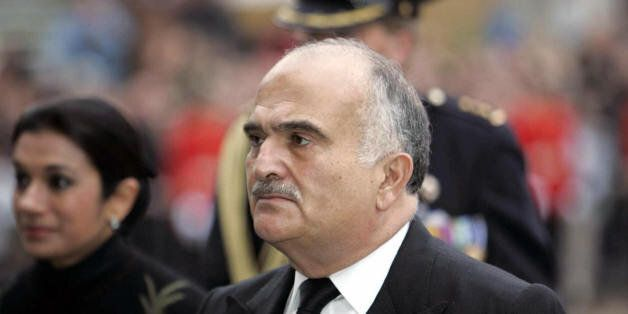 DELFT, NETHERLANDS:  Prince Hassan of Jordan arrives at the Nieuwe Kerk church in Delft, 11 December 2004 for the funeral cer