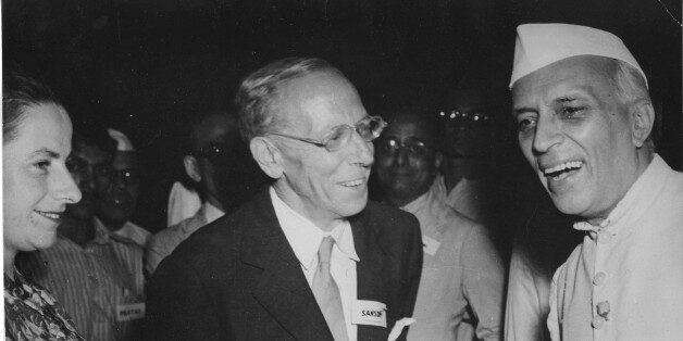 The Hon. Pandit Jawaharlal Nehru, Indian premier, and Sir George Sansom, acting chairman of the Institute of Pacific Relation