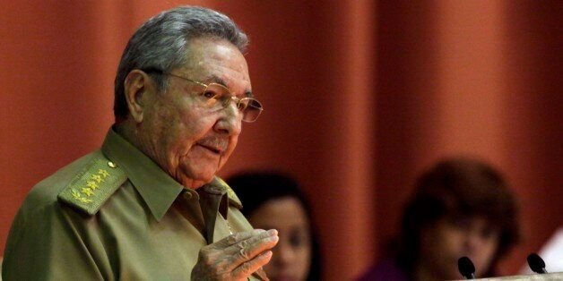 Cuba's President Raul Castro delivers his speech at the closing of the second day of a twice-annual legislative sessions, at