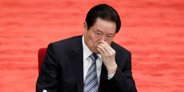 FILE - In this file photo taken May 4, 2012, Zhou Yongkang, Chinese Communist Party Politburo Standing Committee member in ch