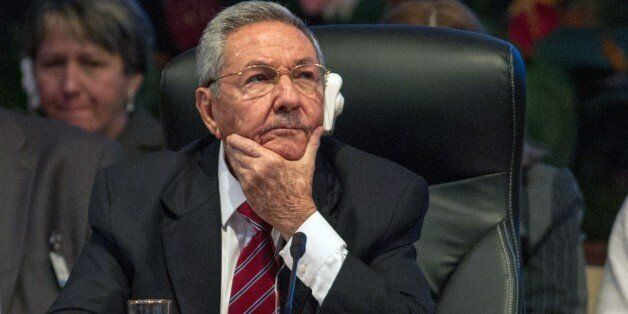 Cuban President Raul Castro listens during the opening of the Caribbean Community (CARICOM) Summit, in Havana, on December 8,