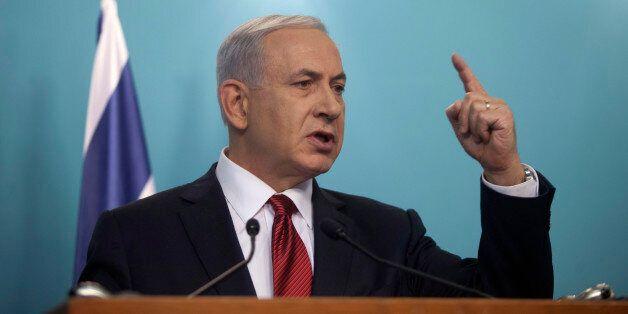 JERUSALEM, ISRAEL - NOVEMBER 18:  Israeli Prime Minister Benjamin Netanyahu speaks during a press conference on November 18,