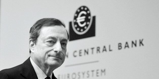 FRANKFURT AM MAIN, GERMANY - DECEMBER 04:  (EDITORS NOTE: This image was processed using digital filters.)  Mario Draghi, Pre