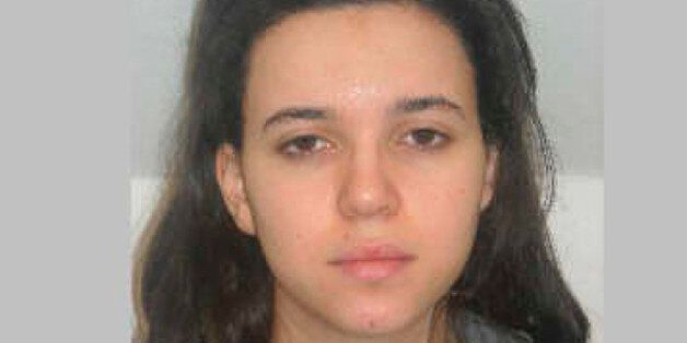 FILE - This photo provided by the Paris Police Prefecture Friday, Jan. 9, 2015 shows  Hayat Boumedienne the suspect in the ko