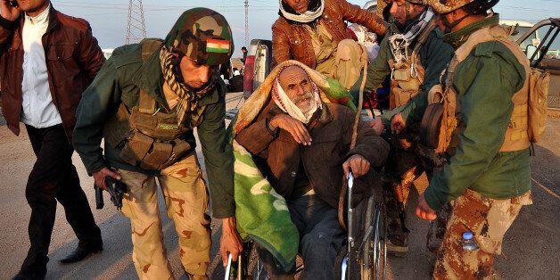 KIRKUK, IRAQ - JANUARY 17:  Islamic State of Iraq and the Levant (ISIL) freed more than 200 Iraqi Yazidis, among them elderly