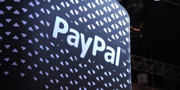 The logo of online payment company PayPal is pictured during LeWeb 2013 event in Saint-Denis near Paris on December 10, 2013.