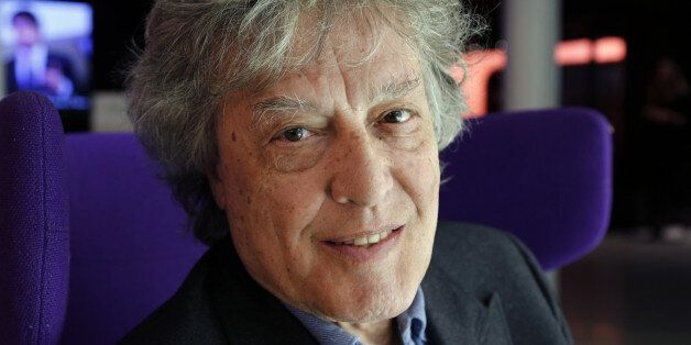 Czech-born British dramatist Tom Stoppard poses on April 27, 2013 at the Forum des Images in Paris, before the screening of t
