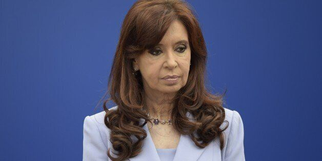 Argentina's President Cristina Fernandez gestures during the 47th Mercosur Summit, in Parana, Entre Rios, Argentina on Decemb